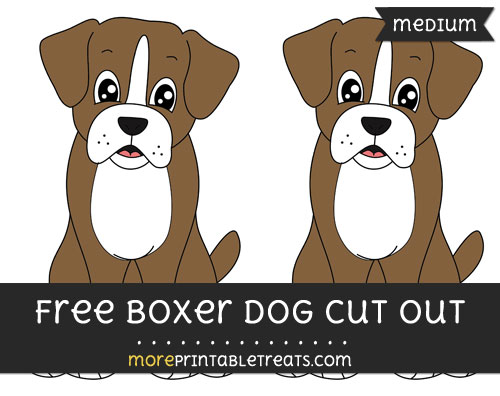 Free Boxer Dog Cut Out - Medium Size Printable