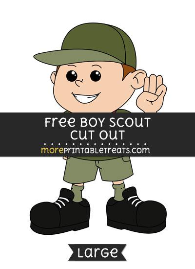 Free Boy Scout Cut Out - Large size printable