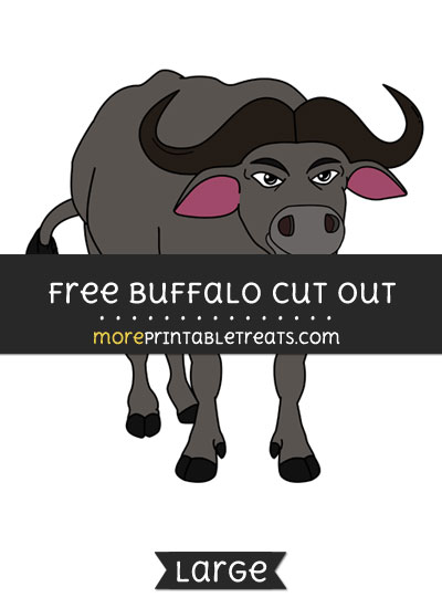 Free Buffalo Cut Out - Large size printable