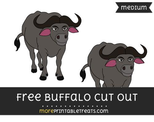 Free Buffalo Cut Out - Medium Size Printable