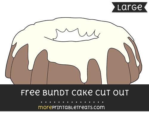 Free Bundt Cake Cut Out - Large size printable