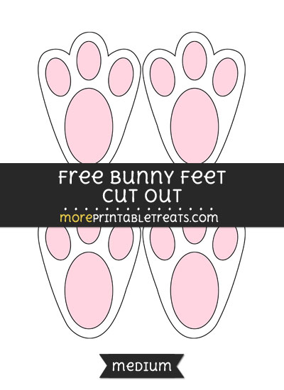 Free Bunny Feet Cut Out - Medium Size Printable