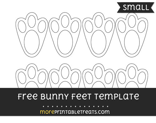Bunny feet template small for Bunny feet template printable