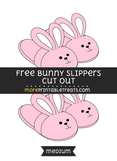 Free Bunny Slippers Cut Out - Medium Size Printable