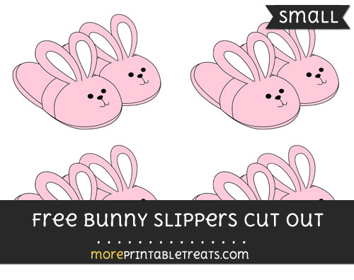 Free Bunny Slippers Cut Out - Small Size Printable