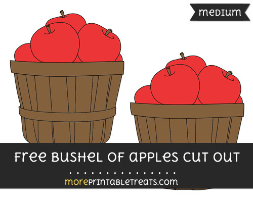 Free Bushel Of Apples Cut Out - Medium Size Printable