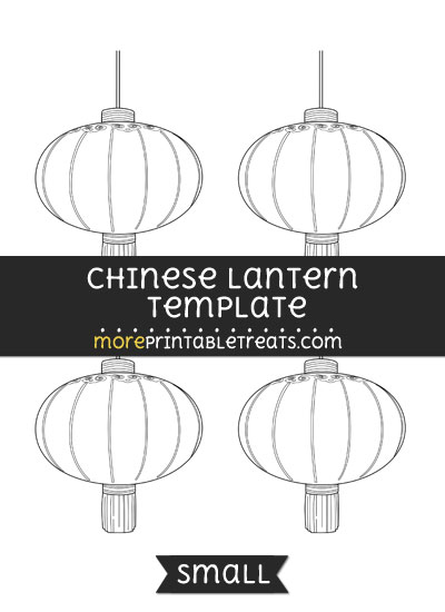 Chinese lantern template small for Chinese new year lantern template printable