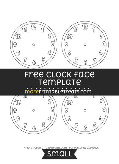 Clock Face Template Small – Clock Face Template