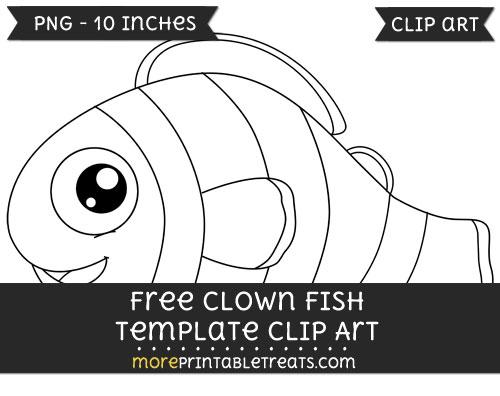 clown fish template clipart