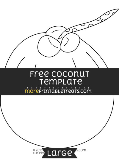 coconut template large