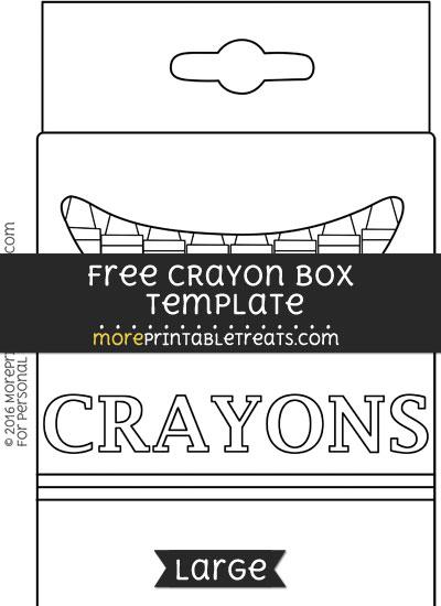 crayon box template large. Black Bedroom Furniture Sets. Home Design Ideas