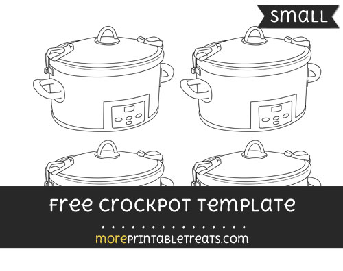 Free Crockpot Template - Small
