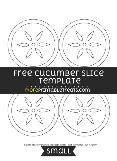 Free Cucumber Slice Template - Small