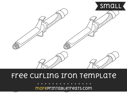 Free Curling Iron Template - Small