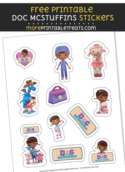 FREE DIY Doc McStuffins Stickers to Print at Home
