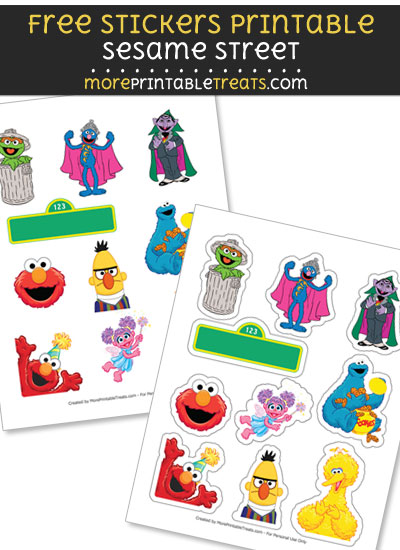 Free DIY Sesame Street Stickers to Print at Home