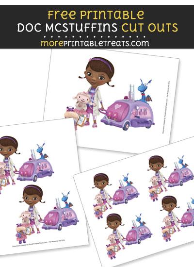 Free Doc McStuffins with Team Cut Outs - Printable - Doc McStuffins