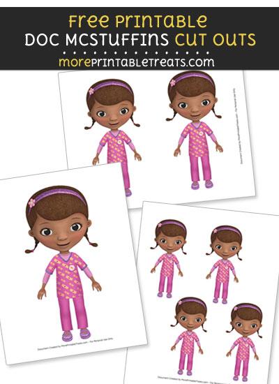 Free Dottie Doc McStuffins Cut Outs - Printable - Doc McStuffins