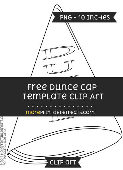 Dunce cap template clipart for Dunce hat template