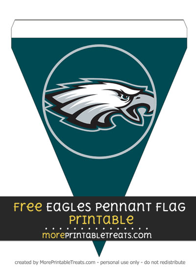 Free Philadelphia Eagles Pennant Flag Banner Decoration