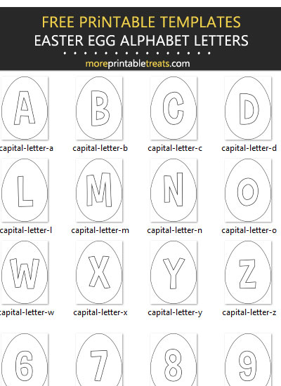 Free Printable Easter Egg Alphabet Letters