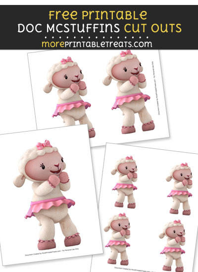 Free Excited Lambie Cut Outs - Printable - Doc McStuffins