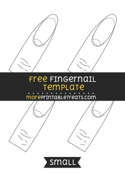 fingernail template small