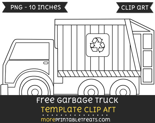 garbage truck template clipart