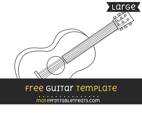 guitar template large