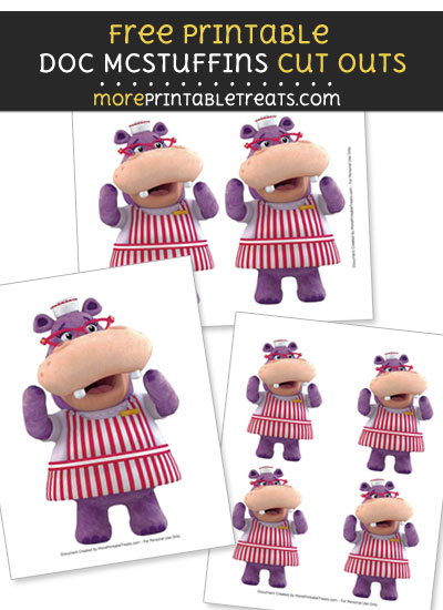 Free Hallie the Hippo Cut Outs - Printable - Doc McStuffins