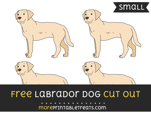 Free Labrador Dog Cut Out - Small Size Printable