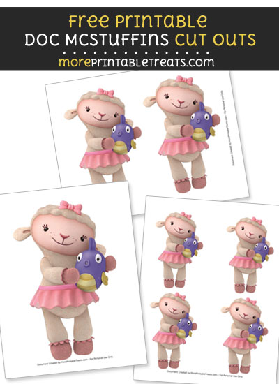 Free Lambie Holding Squeakers Cut Outs - Printable - Doc McStuffins