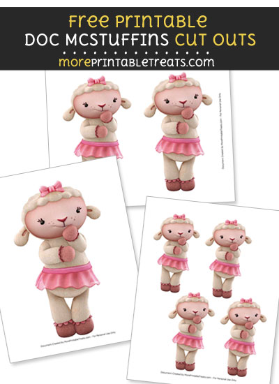 Free Lambie Thinking Cut Outs - Printable - Doc McStuffins