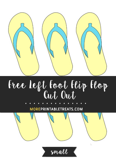 Free Left Foot Flip Flop Cut Out - Small