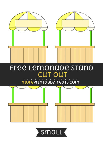 Free Lemonade Stand Cut Out - Small Size Printable