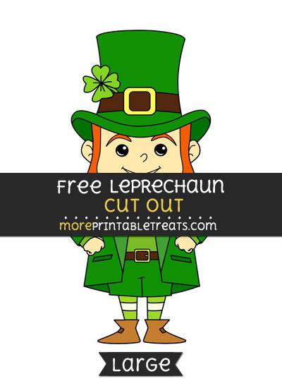Free Leprechaun Cut Out - Large size printable