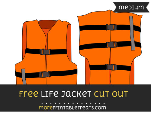 Free Life Jacket Cut Out - Medium Size Printable