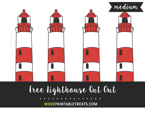 Free Lighthouse Cut Out - Medium