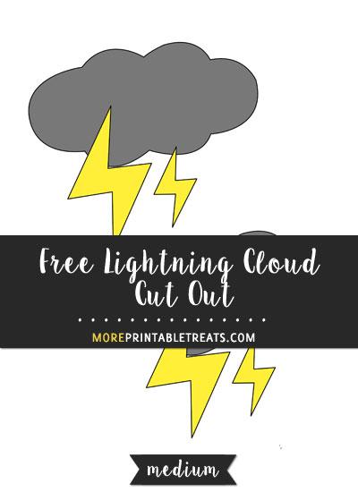 Free Lightning Cloud Cut Out - Medium