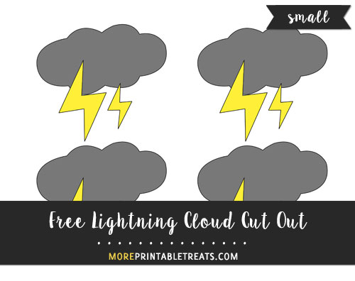 Free Lightning Cloud Cut Out - Small