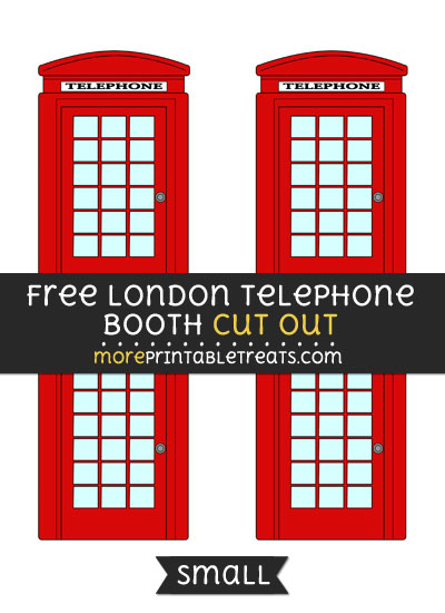 Free London Telephone Booth Cut Out - Small Size Printable