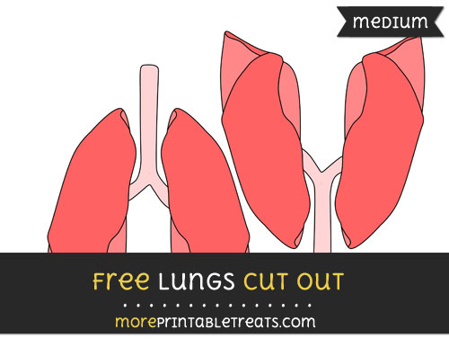 Free Lungs Cut Out - Medium Size Printable