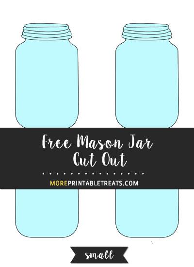 Mason Jar Cut Out – Small