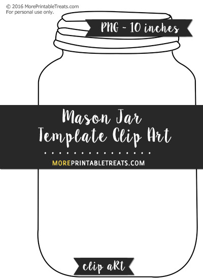 graphic regarding Printable Mason Jar Template referred to as Mason Jar Template Clipart