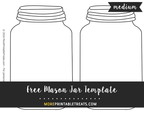 image about Printable Mason Jar Template known as Mason Jar Template Medium