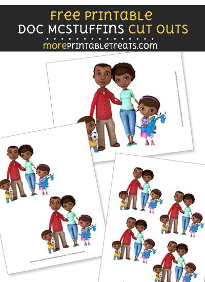 Free McStuffins Family Cut Outs - Printable - Doc McStuffins