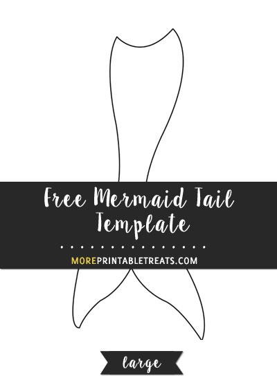 Mermaid Tail Template Large