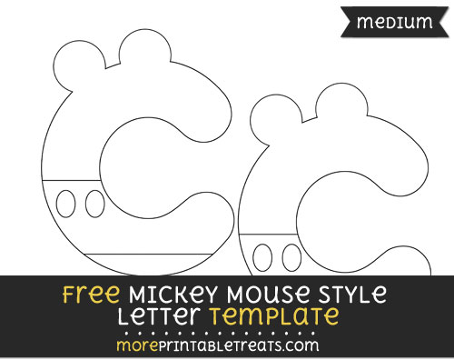 free mickey mouse style letter c template medium