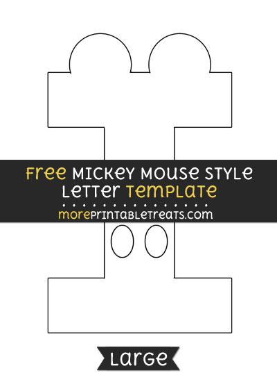Free Mickey Mouse Style Letter I Template   Large  Letter I Template