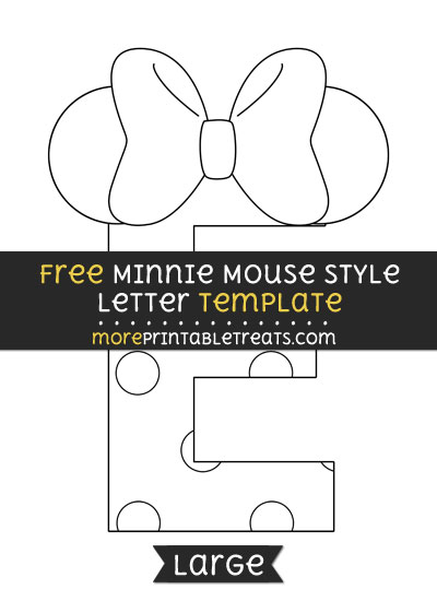 Minnie mouse style letter e template large free minnie mouse style letter e template large spiritdancerdesigns Images